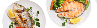 Fish in the Norwegian diet- image of plates of fish